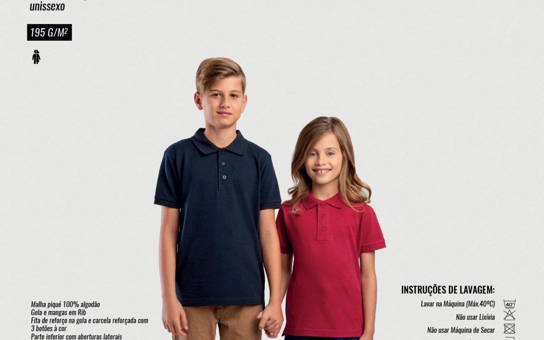 Polo de Criança Unissexo Adam Kids